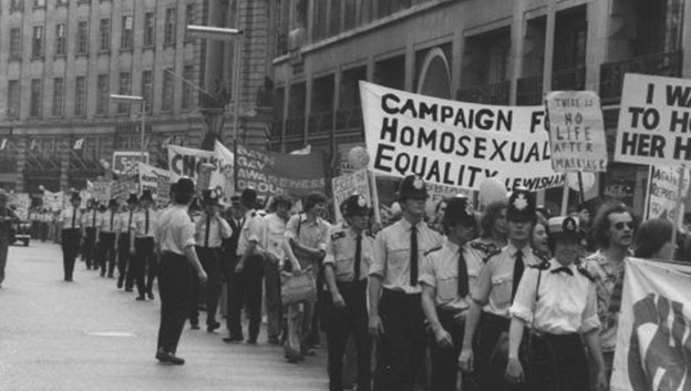 First Gay Pride March in 1972 London, England